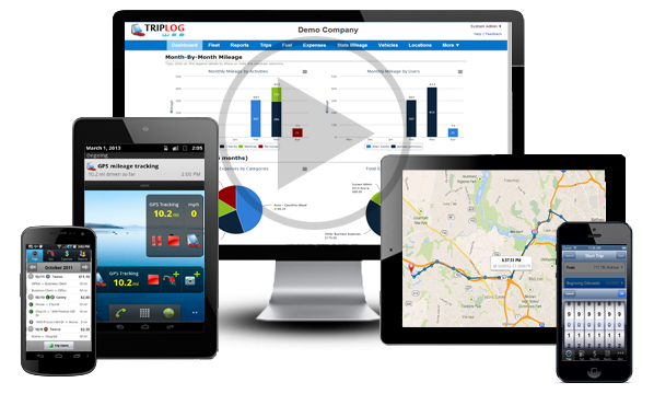 triplog vehicle mileage tracking solutions for businesses and individuals on the web and on the phone